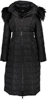 Bebe Black Belted Maxi Puffer Coat