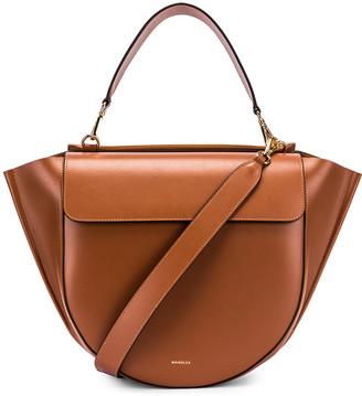 Wandler Big Hortensia Leather Bag in Tan | FWRD