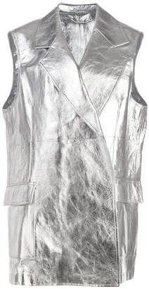Calvin Klein metallic long vest