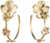 Natori Peony Hoop Earrings