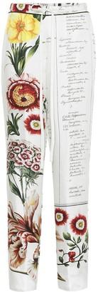 Oscar de la Renta Printed silk-faille pants