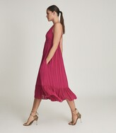 Thumbnail for your product : Reiss Marie - Striped Midi Dress in Pink