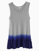 Splendid Girl Dip Dye Loose Knit Sweater Tank