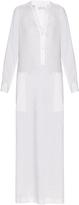 Vince V-neck linen-blend maxi dress
