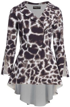 Chiara Boni Vania Printed High-Low Jacket