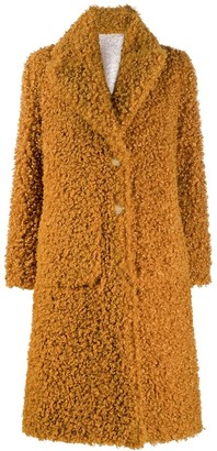 Pinko Shaggy Single Breasted Coat
