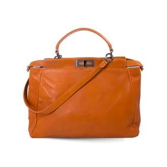 Fendi Peekaboo Orange Leather Handbags