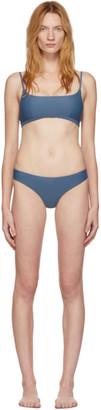 Matteau Blue Crop Top Classic Brief Bikini