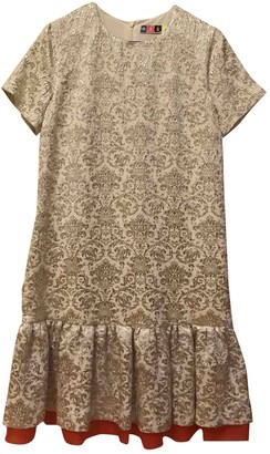 MSGM Gold Silk Dresses