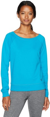 Soffe Women's Juniors Off The Shoulder Fleece