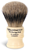 Taylor of Old Bond Street Imitation Ivory Small Super Badger Brush