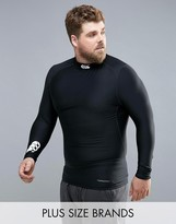 Canterbury Of New Zealand Canterbury Plus Thermoreg Baselayer Long Sleeve Top With Turtle Neck In Black E546850-989