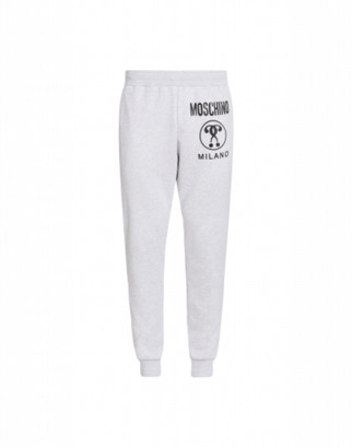 Moschino Cotton Jogging With Double Question Mark Logo Man Grey Size 46 It - (30 Us)