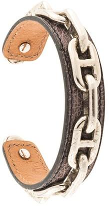 Hermes pre-owned H chain logos bracelet