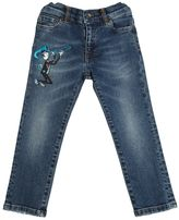 Dolce & Gabbana Stretch Denim Jeans W/ Patch