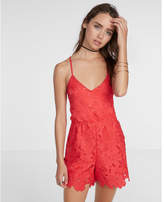 Express Surplice Lace Romper