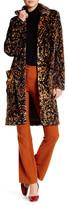 Free People Notch Lapel Retro Faux Fur Coat