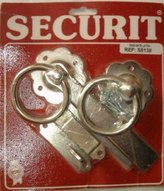 Securit zinc plated ring handle gate latch with screws