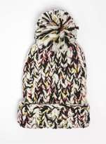 Multi Coloured Knitted Beanie Hat