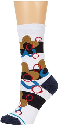 Stance Meui Crew (White) Crew Cut Socks Shoes
