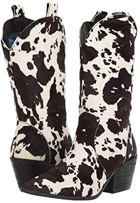 Dingo Live A Little (Black Cow) Cowboy Boots