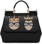 Dolce & Gabbana Black Medium Crowned Designers Miss Sicily Bag