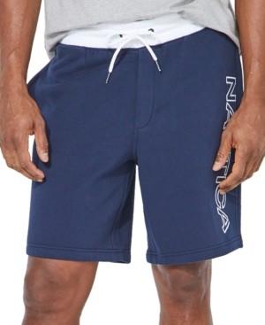 Nautica Men's Big & Tall Fleece Logo Shorts