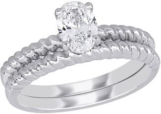Affinity Diamond Jewelry Affinity 7/10 cttw Diamond Bridal Ring Set, 14K