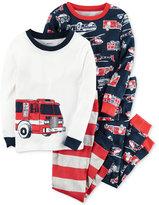 Carter's 4-Pc. Firetruck Pajama Set, Little Boys (2T-7) & Big Boys (8-20)