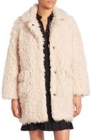 Opening Ceremony Long Sleeve Faux Shearling Jacket