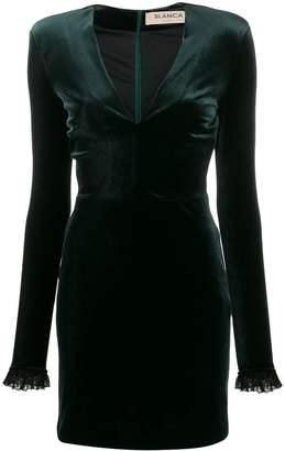 Blanca Vita V-neck velvet dress