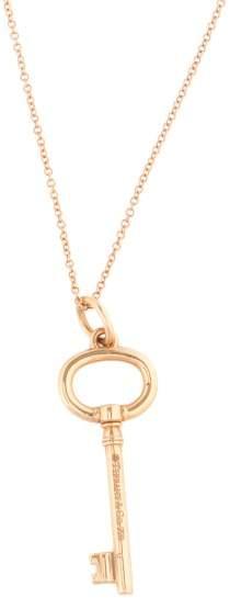 Tiffany & Co. 18K Rose Gold Key Necklace