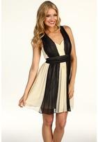 Max & Cleo Arianna Colorblock Dress (Black Combo) - Apparel