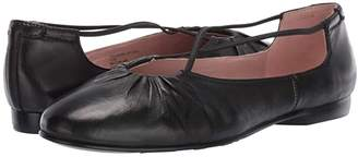 Taryn Rose Alessandra by Collection (Black Nappa) Women's Flat Shoes