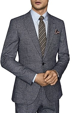 Reiss Leon Dogtooth Print Suit Jacket