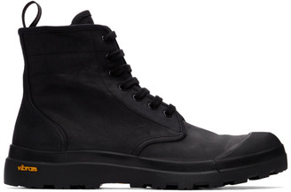 Officine Creative Black Pallet 1 Boots