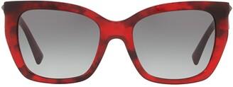 Valentino Eyewear Square Frame Sunglasses