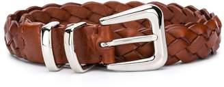 Brunello Cucinelli Kids woven style buckled belt