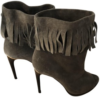 Burberry Khaki Suede Boots