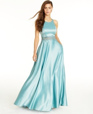 City Studios Juniors' Embellished Ball Gown