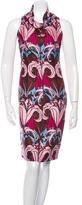 Prada Abstract Print Sleeveless Dress