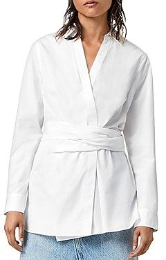 AllSaints Alicia Wrap Shirt