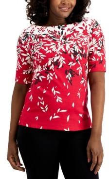 Karen Scott Printed T-Shirt, Created for Macy's