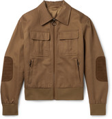 Neil Barrett - Suede-trimmed Cotton-canvas Blouson Jacket