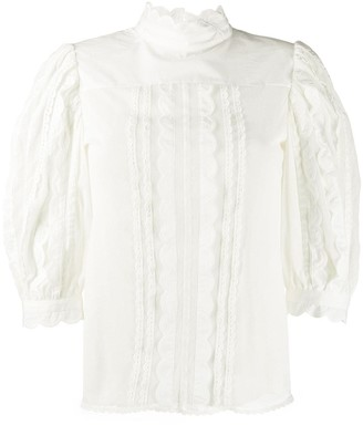 See by Chloe Scallop Trim Blouse