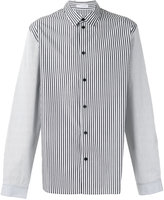 J.W.Anderson appliquéd striped shirt - men - Cotton - 48