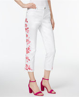 INC International Concepts Embroidered Cropped Jeans, Only at Macy's