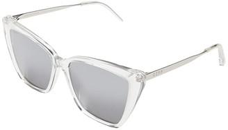 clear DIFF Eyewear Becky II Leopard/Grey 1) Fashion Sunglasses