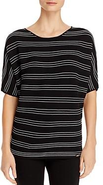 T Tahari Elbow-Sleeve Striped Top