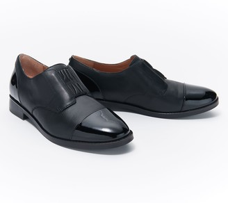 Vionic Leather or Suede Slip-On Oxford Shoes - Jayla